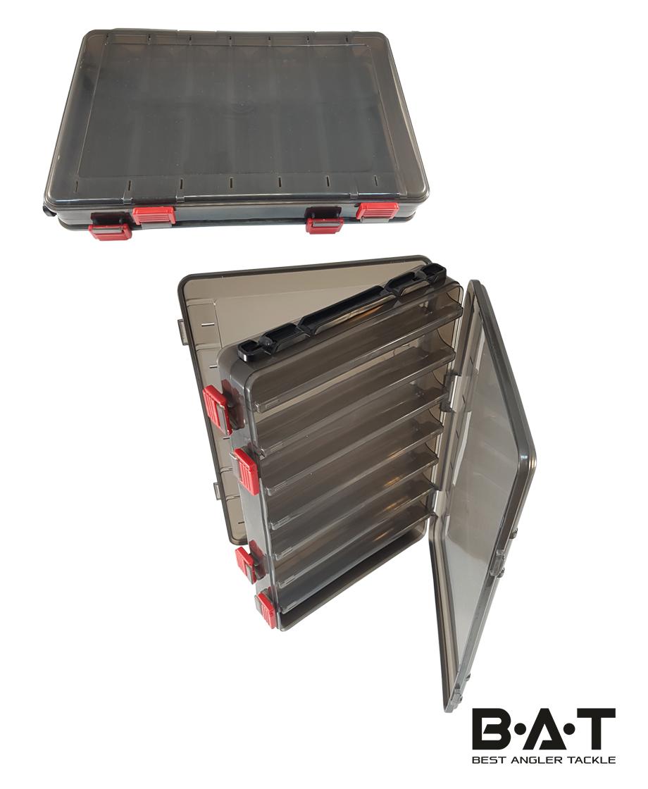 Коробка для воблеров двухсторонняя НS 319 (280*180*50) черная прозр.
