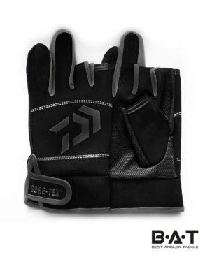 Перчатки спиннингиста (двухпалые) DAIWA GORE-TEX (черн)
