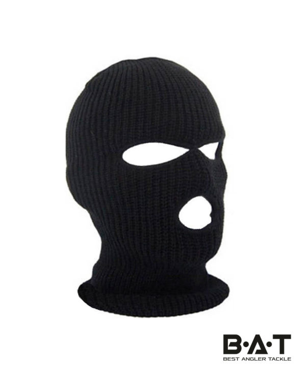 Шапка-маска балаклава вязаная (черная) ev
