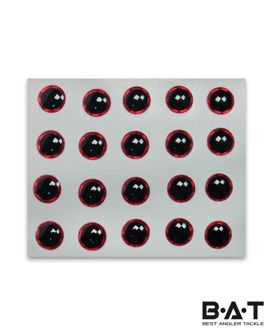 Самокл. глаза Strike Pro 3D Lure Eyes (red, 5мм.)