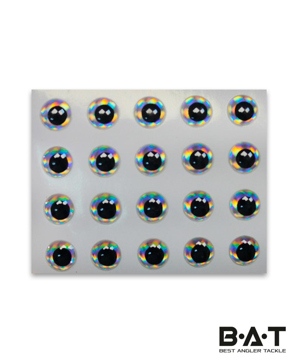 Самокл. глаза Strike Pro 3D Lure Eyes (silver, 5мм.)