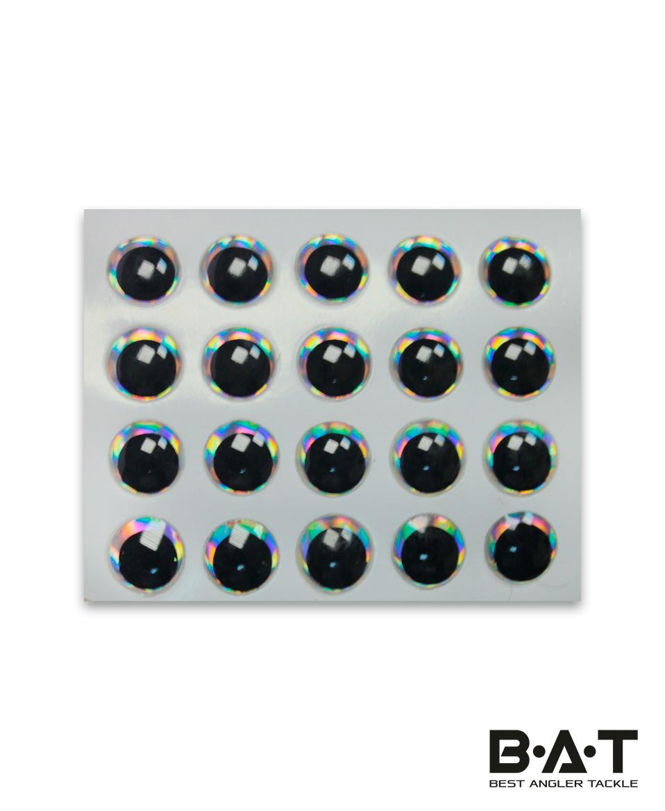 Самокл. глаза Strike Pro 3D Lure Eyes (silver, 6,5мм.)