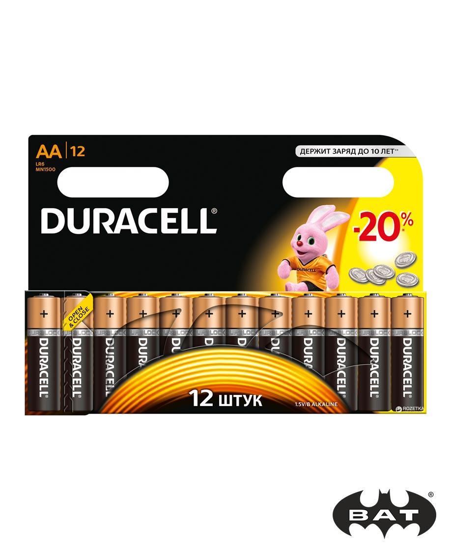 Батарейки Duracell AA уп 12шт