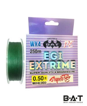 Леска плетеная BAT EGI EXTRIME Green 250 м., 0,50 мм. 48,5 кг.