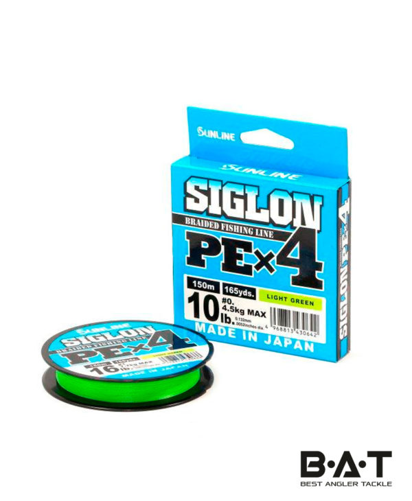 Шнур Sunlline SIGLON PE X4 (light green) 150 m #1.0 (16 lb, 7.7kg)