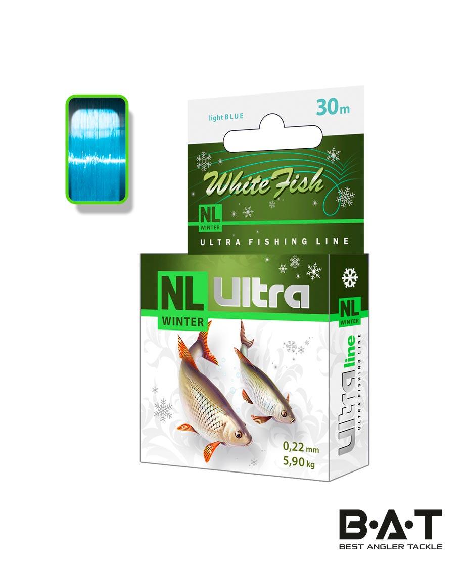 Леска AQUA NL ULTRA WHITE FISH 30 М. 0.16 уп 8