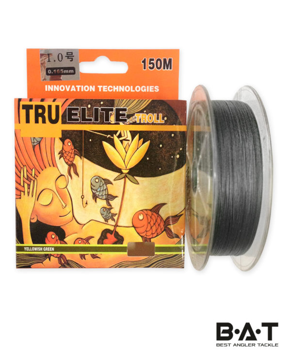 ЛЕСКА ПЛЕТЕНАЯ TRU ELITE TROLL 150м black/brown 0.26