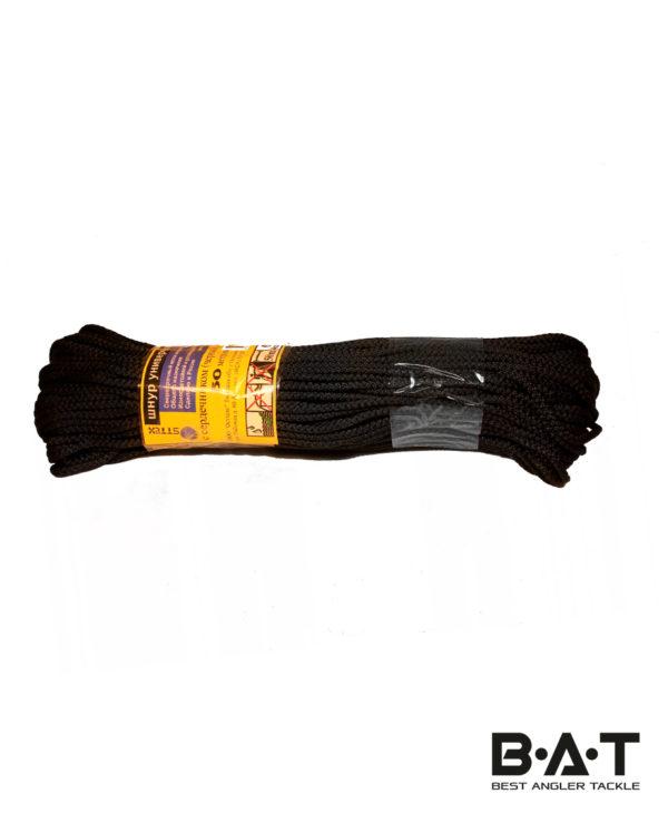 Шнур с сердечником 6мм 50м (черный)