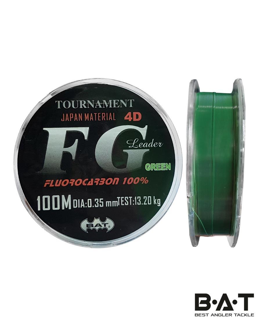 ЛЕСКА BAT FG LEADER 4D 100 М / 0,16мм зеленый