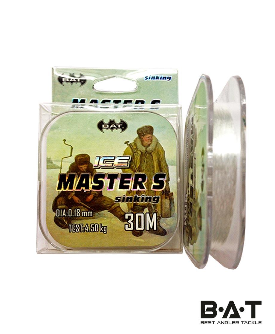 Леска BAT ICE MASTER 30м. 0,18мм. (Уп 9)