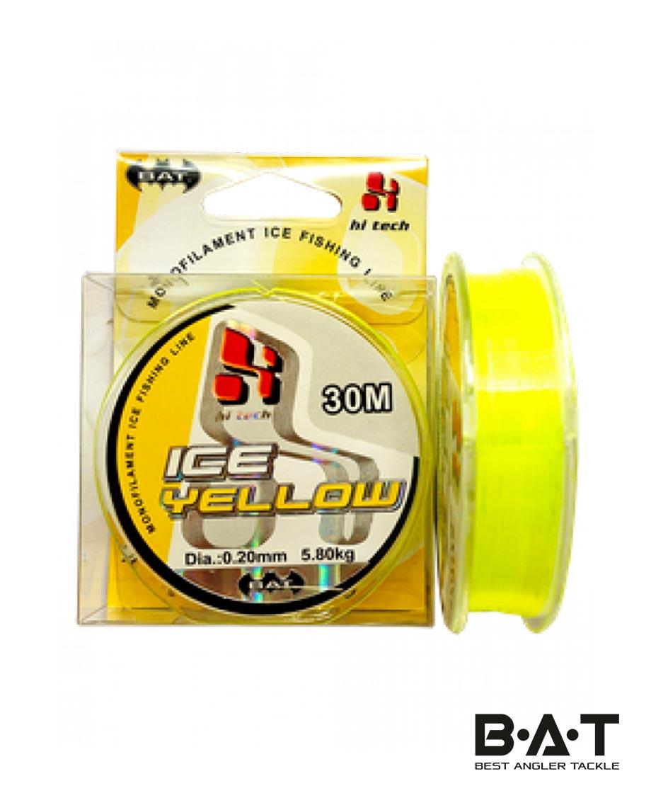 Леска BAT ICE YELLOW 30 м. 0,18мм. (Уп 20)