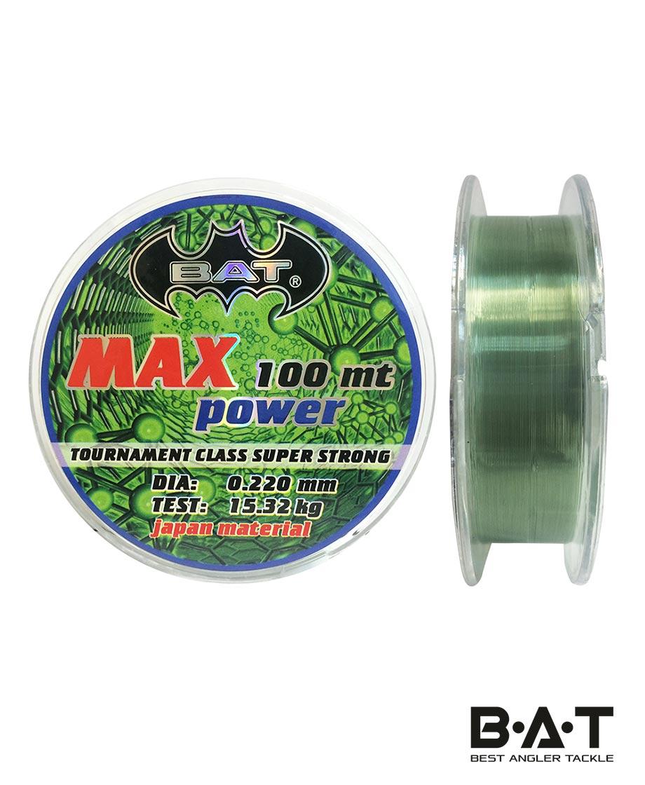 ЛЕСКА ВАТ MAX POWER g 100 м.,22мм.