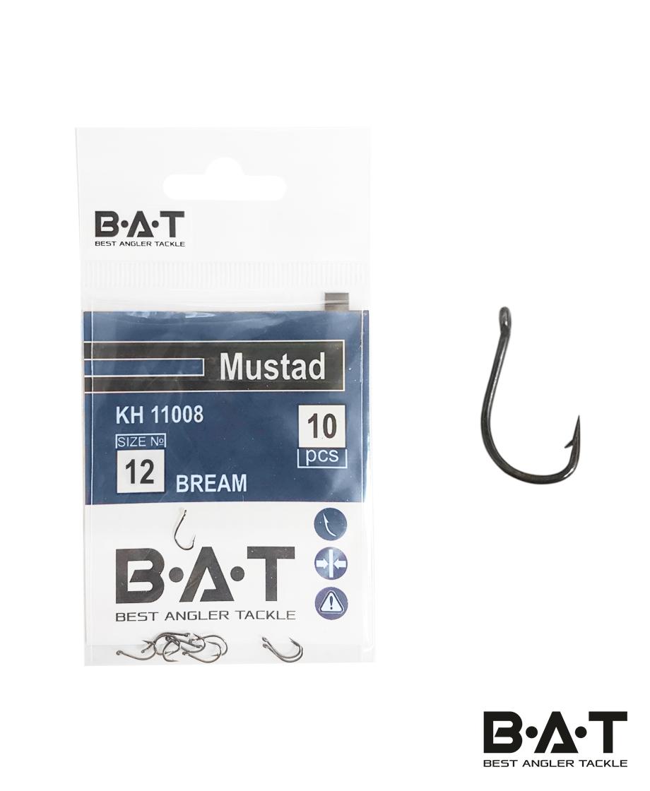 Крючки BAT Mustad КН 11008 Bream (№ 12) уп.10
