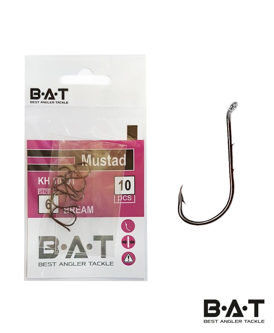 Крючки BAT Mustad КН 10091 Bream (№ 6) уп.10