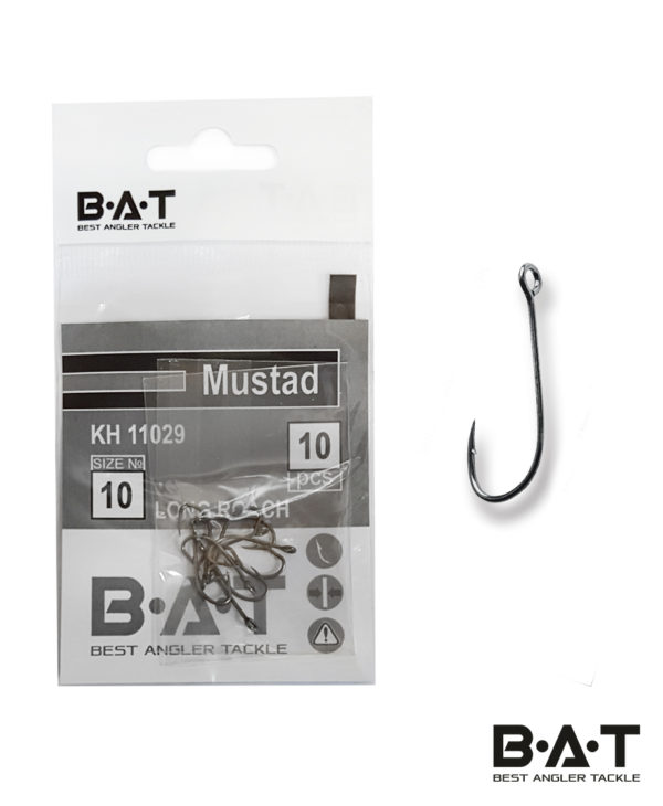 Крючки BAT Mustad КН 11029 Long Roach (№ 10) уп.10
