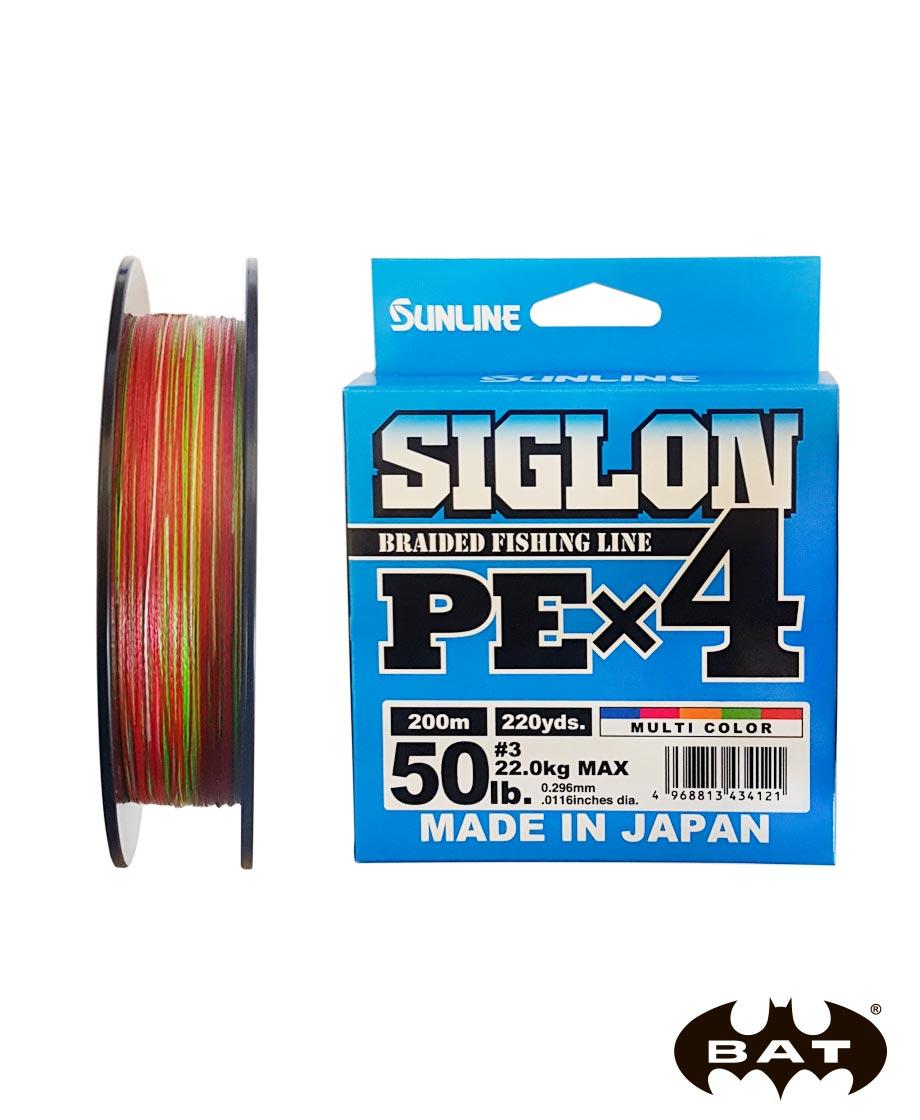 Шнур Sunlline SIGLON PE X4 (multi color) 200 m #3.0 (50 lb, 22kg)