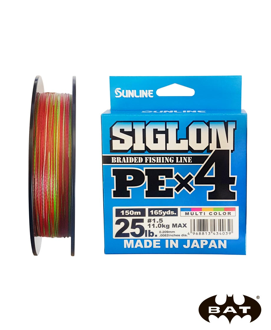 Шнур Sunlline SIGLON PE X4 (multi color) 150 m #1.5 (25 lb, 11kg)