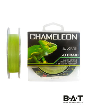 Леска плетеная Etovei X8 Braid Chameleon Green 100 м., 0,08 мм/ 4.8 kg