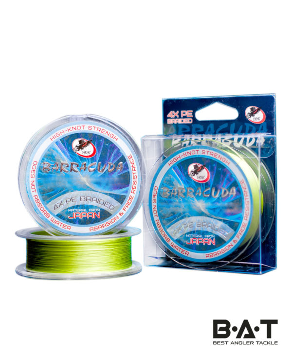 Леска плетёная ХOK PE 4X BARRACUDA LIGHT GREEN 0,52 mm 40.00 кг 150m