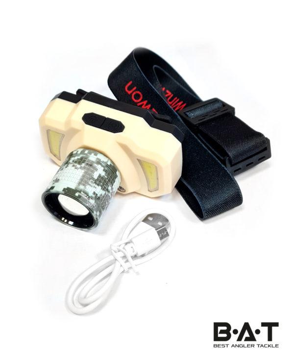 Фонарик налобный аккумуляторный P 5709 sensor