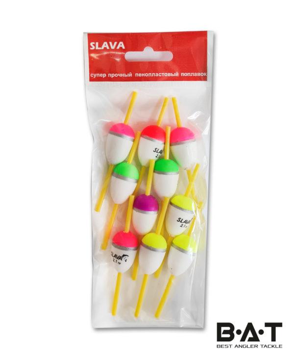 """Поплавок SLAVA пенопл.""""капля"""" 3 см. 2,1 гр. 9-04-1003 Уп.10"""