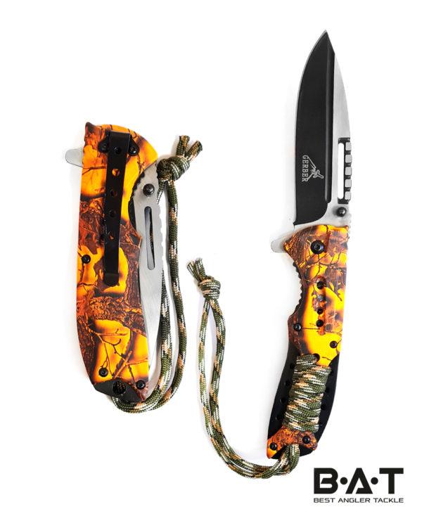 Нож складной на шнурке