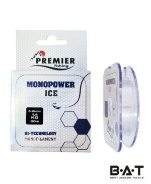 Леска MONOPOWER ICE 0,10mm/30m Clear Nylon PREMIER fishing (PR-MI-T-010-30)